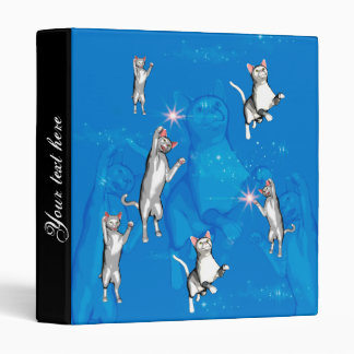 Funny playing cartoon cats 3 ring binder