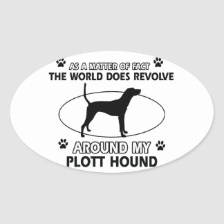 Funny PLOTT HOUND designs Oval Sticker
