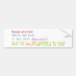 Funny poems bumper sticker