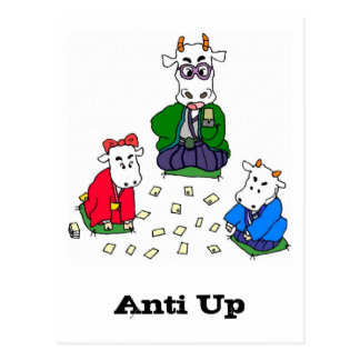 Funny Poker Cow Games Postcard
