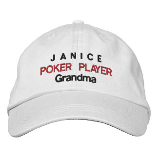 Funny POKER PLAYER Grandma A02 Embroidered Hat