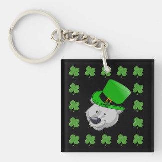 Funny Polar Bear Keychain - St Pattys Day Gifts