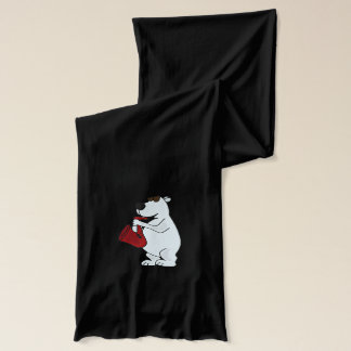 Funny Polar Bear Playing Saxophone Scarf