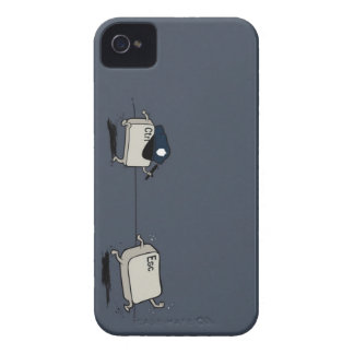 Funny Police Humor - Ctrl Chasing Esc Key iPhone 4 Case-Mate Case