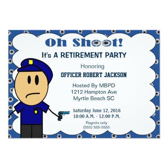 Funny Police Officer Retirement Invitation