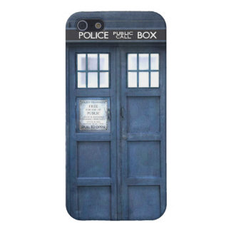 Funny police phone box iPhone 5 cases