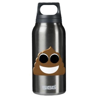 Funny Poop Emoji Insulated Water Bottle