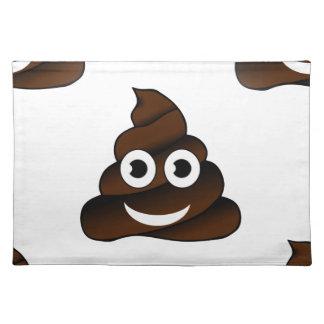 funny poop emoji placemat