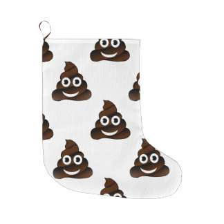 funny poop emoji xmas christmas stocking