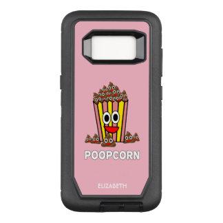 Funny Poopcon Poop Pile Smiling Head Popcorn OtterBox Defender Samsung Galaxy S8 Case