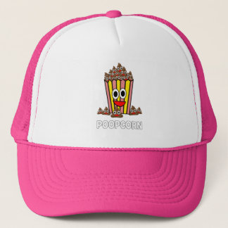 Funny Poopcon Poop Pile Smiling Head Popcorn Trucker Hat