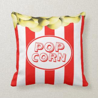 Funny Popcorn Box Movie Theme Throw Pillow