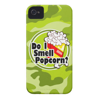 Funny Popcorn bright green camo camouflage iPhone 4 Cover