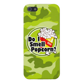 Funny Popcorn bright green camo camouflage iPhone 5/5S Covers