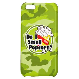 Funny Popcorn bright green camo camouflage iPhone 5C Cover