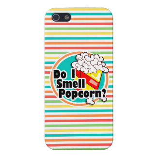 Funny Popcorn Bright Rainbow Stripes iPhone 5/5S Cover