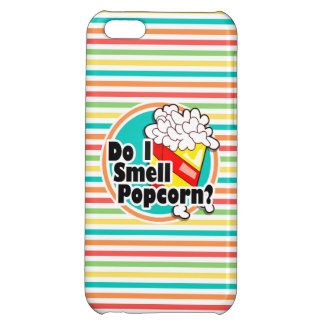 Funny Popcorn Bright Rainbow Stripes Cover For iPhone 5C