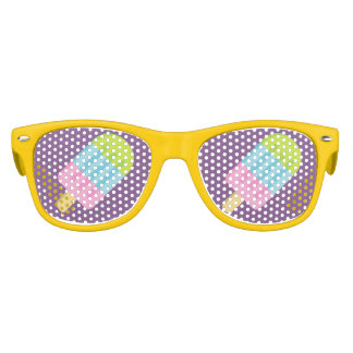 Funny popsicle ice cream party shades sunglasses