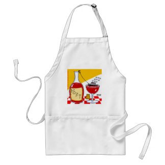 Funny Port Wine Lovers Clever Witty Cartoon Standard Apron