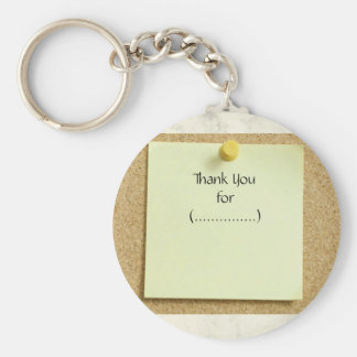 Funny Post-It Note Thank You Keychain