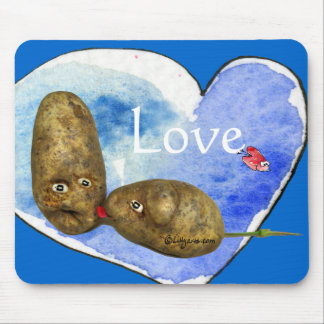 Funny Potatoes in Love/ Heart Mousepads