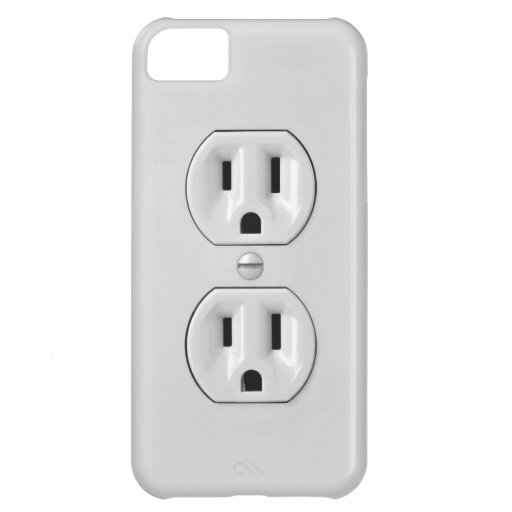 Funny Power Outlet Case For iPhone 5C