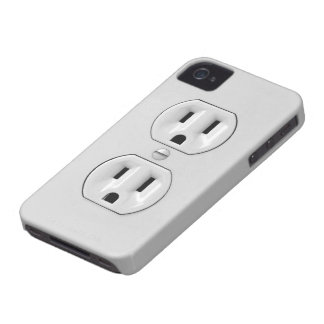 Funny Power Outlet iPhone 4 Covers