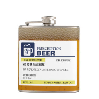 Funny Prescription Beer Flask