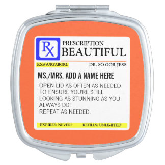 Funny Prescription Compact Mirror