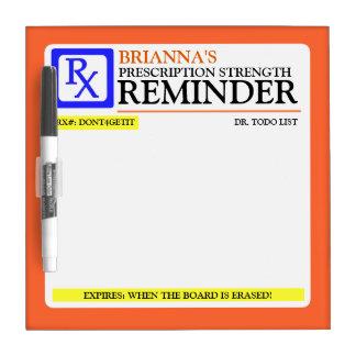 Funny Prescription Label Dry-Erase Whiteboard