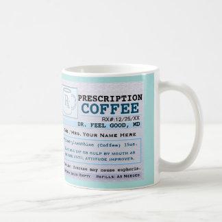 Funny Prescription RX Hospital Green Coffee Mug