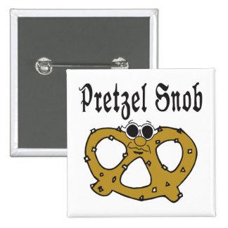 Funny Pretzel Snob Pin