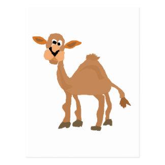 Funny Primitive Camel Art Postcard