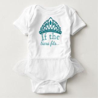 Funny Princess Tiara Quote Cute Teal Baby Bodysuit