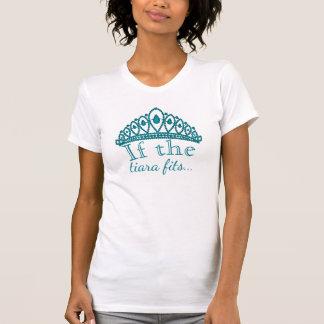 Funny Princess Tiara Quote Cute Teal Gems T-Shirt