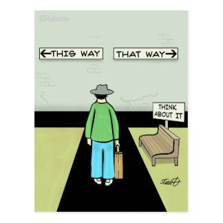Funny Procrastination Cartoon Postcard