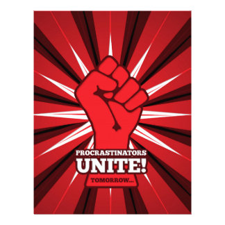 Funny: Procrastinators Unite! (Tomorrow) Letterhead