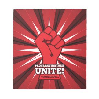 Funny: Procrastinators Unite! (Tomorrow) Notepad