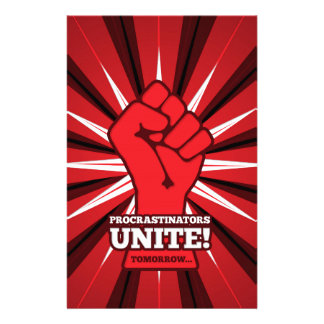 Funny: Procrastinators Unite! (Tomorrow) Stationery