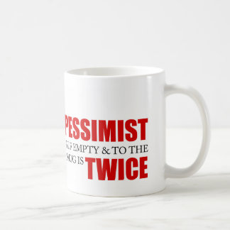 Funny Project Management Saying Optimist Pessimist Coffee Mug