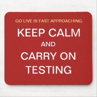 Funny Project Manager Gift - Go Live Testing Joke Mouse Pad