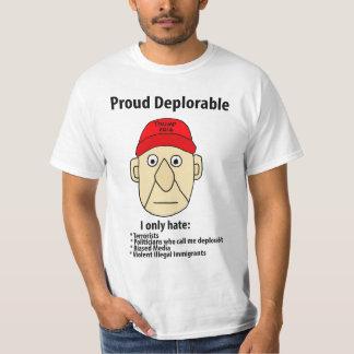 Funny Proud Deplorable Political Cartoon T-Shirt