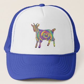 Funny Psychedelic Goat Colourful Spiral Animal Art Trucker Hat