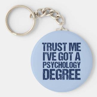 Funny Psychology Graduation Keychain