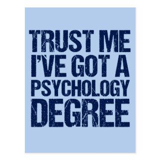 Funny Psychology Graduation Postcard