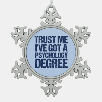 Funny Psychology Graduation Snowflake Pewter Christmas Ornament