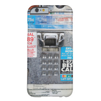 Funny Public Pay Phone Booth Barely There iPhone 6 Case