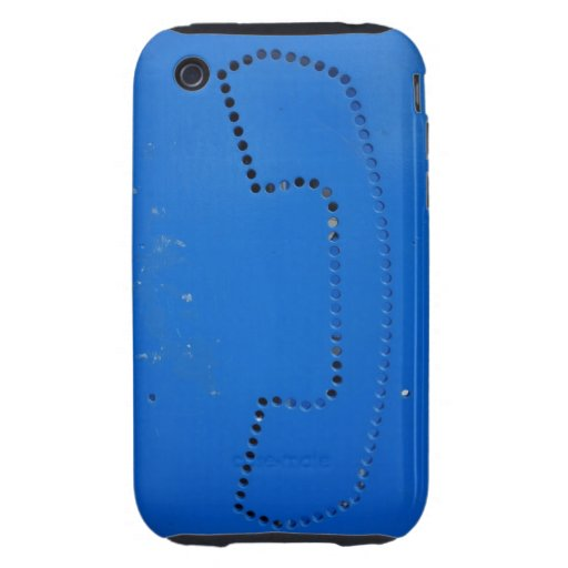 Funny Public Pay Phone Booth Silhouette iPhone 3 Tough Cases