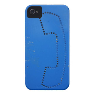 Funny Public Pay Phone Booth Silhouette iPhone 4 Case