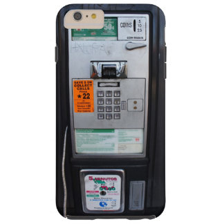 Funny Public Pay Phone Booth Tough iPhone 6 Plus Case